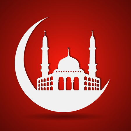 textured paper: background of ramadan kareem