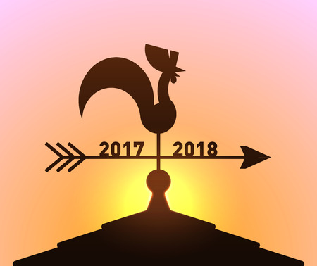 End of Yeah 2017 and going to New Year 2018 Illustration