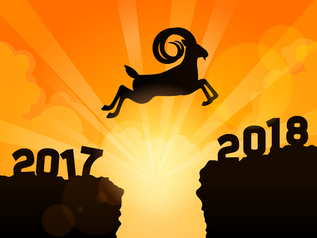 Gazelle  jumping into next year 2018.