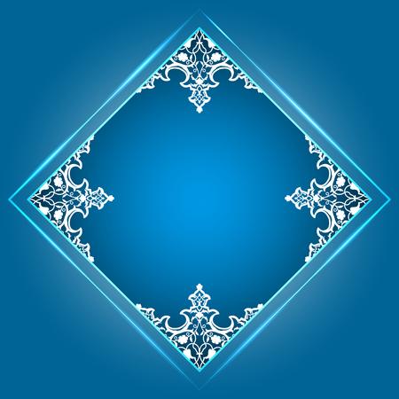 Round pattern background in frame.