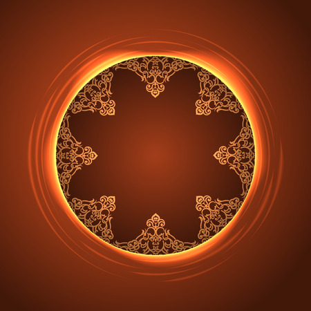background of round pattern in frame