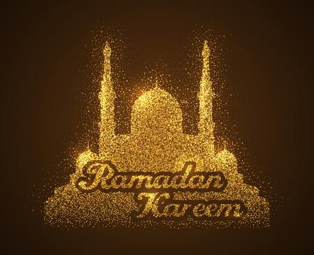 background of ramadan kareem with sparkles