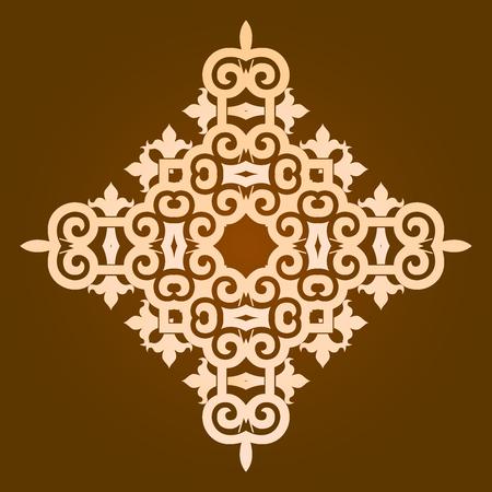 Mandala pattern design illustration. Illustration