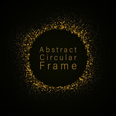 abstract circular frame Vector illustration.