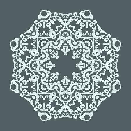 Round mandala pattern.