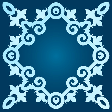 dark blue background with pattern.