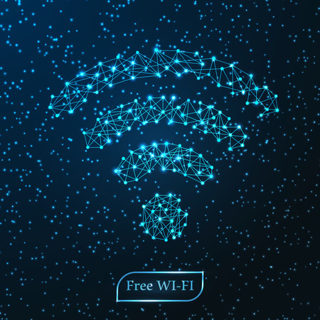 point de ligne de réseau wifi