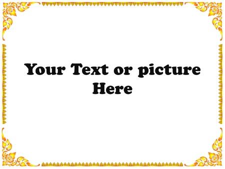 Thai Golden Frame Stock Photo - 14737774