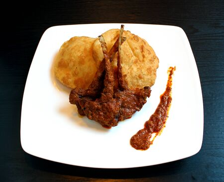 mutton: Platinum Mutton Masala with Puri