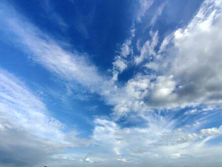 Blue sky with storm clouds Foto de archivo - 149593569