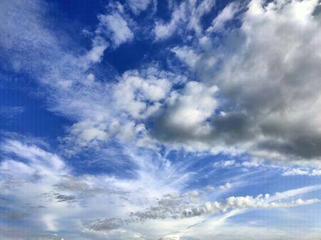 Blue sky with storm clouds Foto de archivo - 149593653