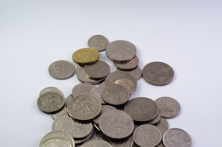clump: clump of coins