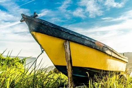 A Stranded Boats near the village Stock Photo - 16062169