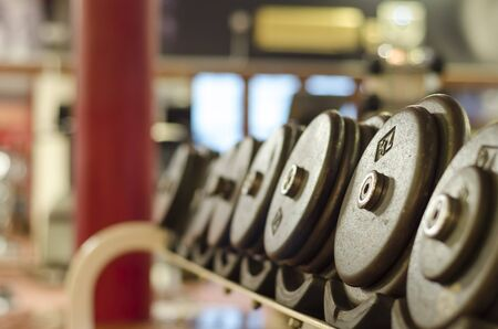 Dumbell in the gymnasium photo