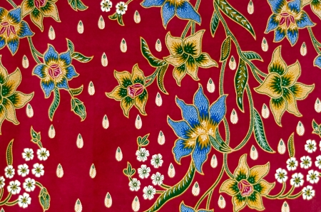 Pattern and Batik Textile Stock Photo - 17418950