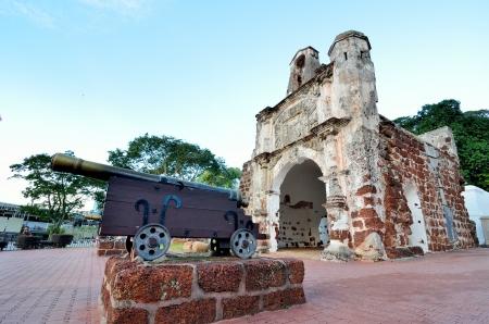 La Antigua Fortaleza, A Famosa en Malaca Foto de archivo - 19157909