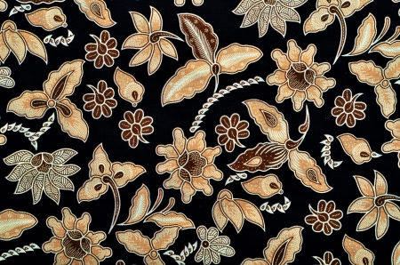 textile industry: Pattern for traditional clothes malaysia include batik Stock Photo