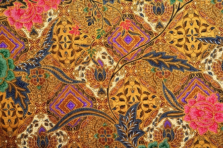 textile image: Pattern for traditional clothes malaysia include batik Stock Photo