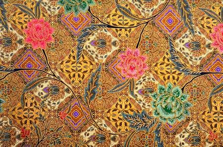 industria textil: Modelo para la ropa tradicional malasia incluye batik Foto de archivo