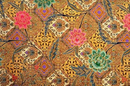 malaysia: Pattern for traditional clothes malaysia include batik Stock Photo