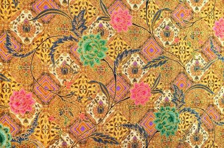 パターンの伝統的な服はマレーシア、バティック
