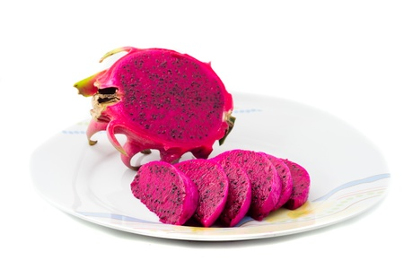 nutrient: Red dragon fruit with high nutrient Stock Photo