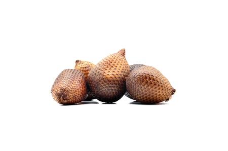 salak: Salak Fruit On White Background Stock Photo