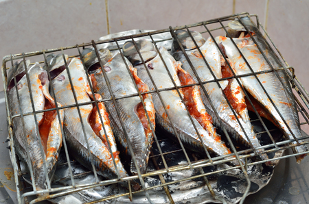 Fish ready to grill photo