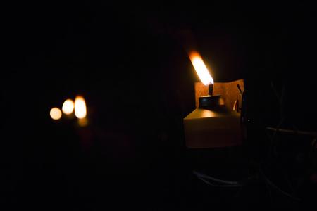 pelita: Muslim Oil Lamp - Pelita in its original ambient lighting at night.