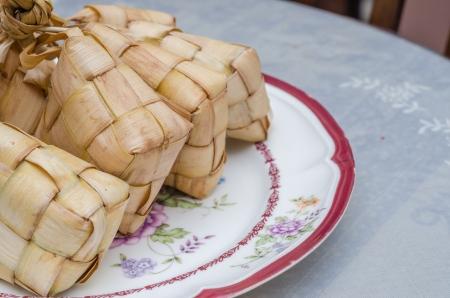 Ketupat or packed rice dumpling photo