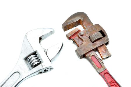 outils plomberie: Outils de plomberie mis � cl� Banque d'images