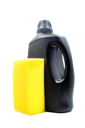 chemical peels: Sponge and towel with car wash foam