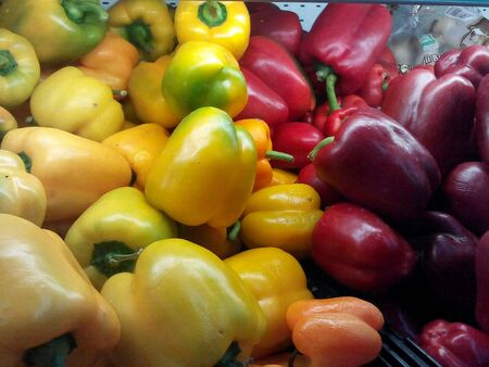 closeup: Colored bell peppers