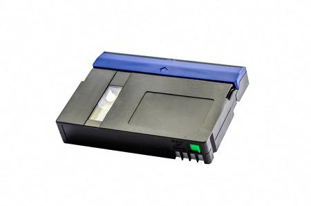 videokassette: Videokassette standard MiniDV isoliert auf wei�em Hintergrund