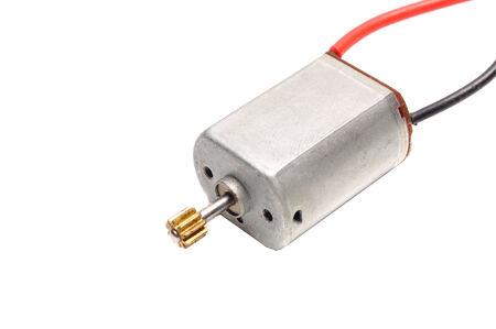 electronic motor  isolated on white background