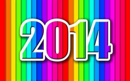 Happy New Year 2014 colorful celebration background. Stock Photo - 27398293