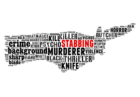 Text Collage of Stabbing photo