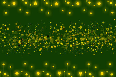 Abstract background with star shining and bokeh  Used for ramadhan, christmas or any celebration photo