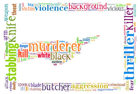Text Collage of Murderer