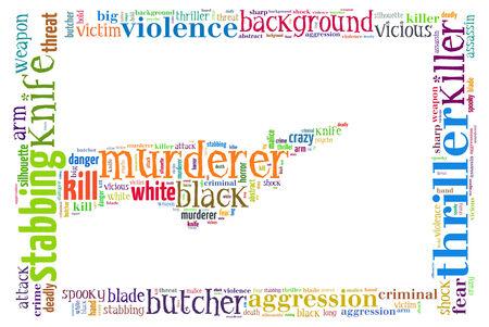 murderer: Text Collage of Murderer