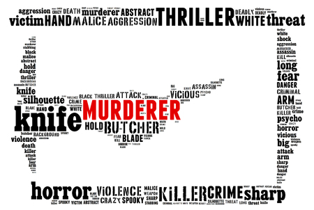 stabbing: Text Collage of Murderer