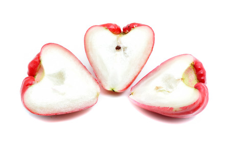 Rose apple isolated on the white background photo