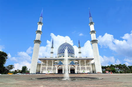 alam: The Sultan Salahuddin Abdul Aziz Shah Mosque, also known as Blue Mosque, is the state mosque of Selangor, Malaysia. It is located in Shah Alam and is Malaysias largest mosque.