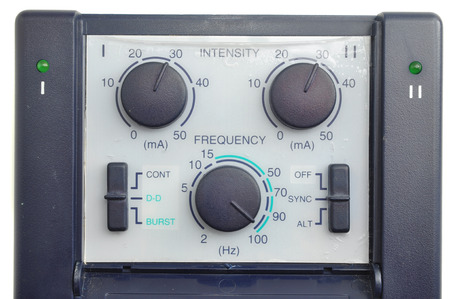 intensity: Frequency and Intensity button for Medical Treatment