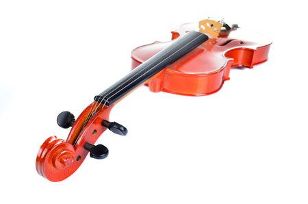 bout: Violin on white background