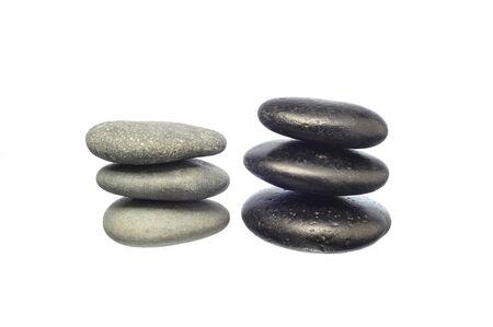 stones isolated: stones isolated on white background Stock Photo