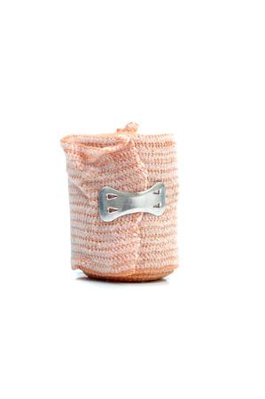 immobilize: Medical bandage roll on white background