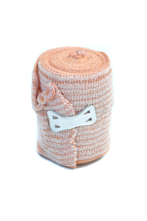 immobilize: Medical bandage roll on white background