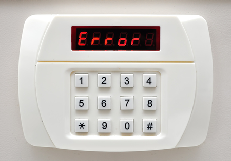 pin code: Pin code ERROR on security system