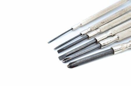 hobbyist: Precision screwdriver Stock Photo